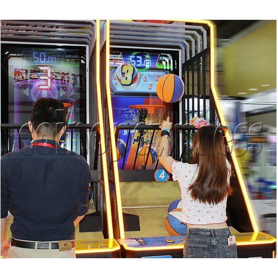 Storm Shot 2 Basketball Arcade Ticket Redemption Game Machine play view