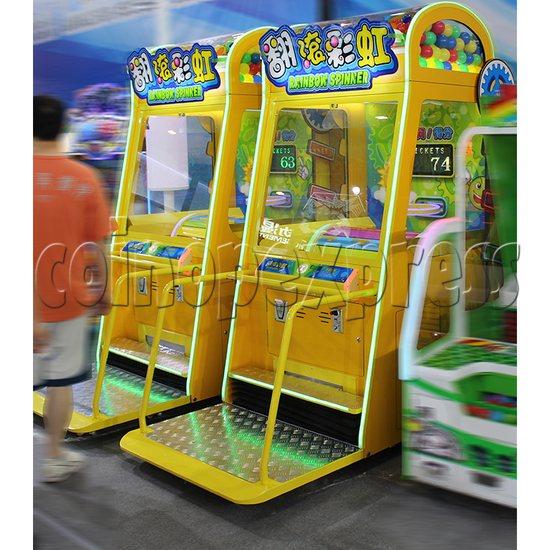 Rainbow Spinner Ticket Redemption Arcade Machine side view