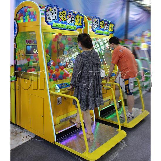 Rainbow Spinner Ticket Redemption Arcade Machine play view