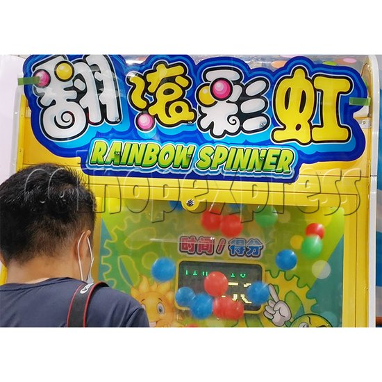 Rainbow Spinner Ticket Redemption Arcade Machine header