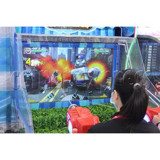 Seer Water Bomb Shooting Game Arcade Machine screen display