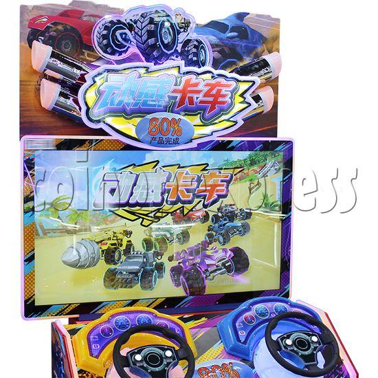 Crazy Car Video Driving Game Arcade Machine screen display