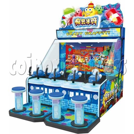 Crazy Graffiti Water Shooting Amusement Machine exposed view