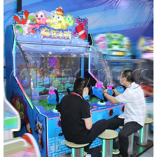 Crazy Graffiti Water Shooting Amusement Machine play view
