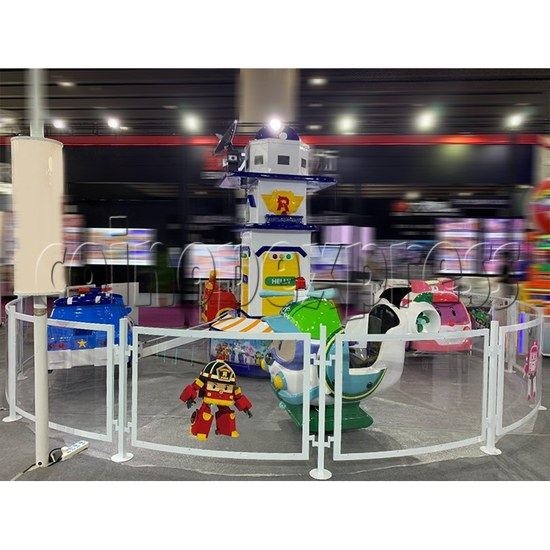 Poli Plane Park Ride (8 players) play view
