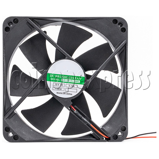 12volt Arcade Brushless Cooling Fan 12 x 12cm front view