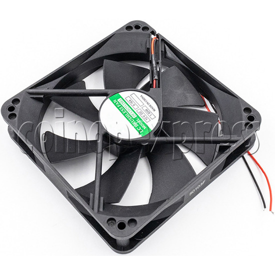 12volt Arcade Brushless Cooling Fan 12 x 12cm side view 1