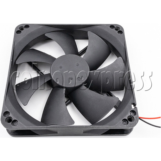 12volt Arcade Brushless Cooling Fan 12 x 12cm side view 3