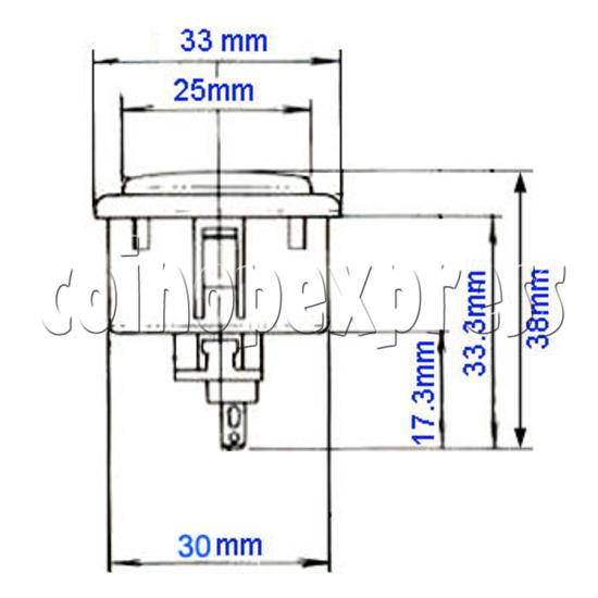 Sanwa Push Button 33mm (OBSF-30) 4781