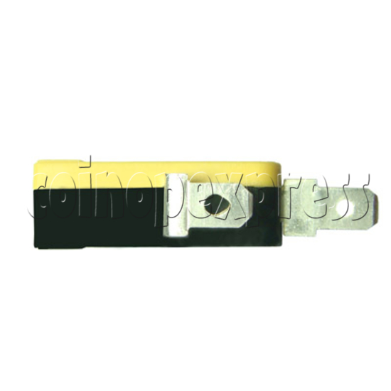 2 Terminals Microswitch with Button Actuator 4886