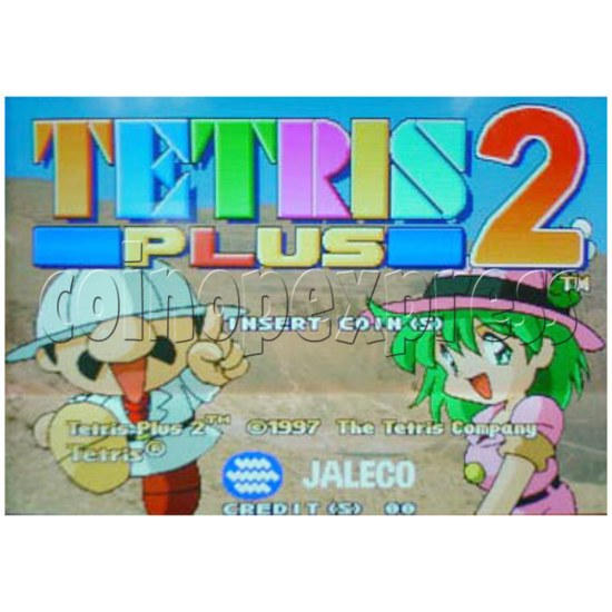Tetris Plus 2 Arcade Game board - Game play -1