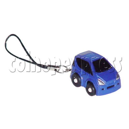 Mini Pull Back Car Key Chain with Capsules 7945