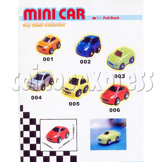 Mini Pull Back Car Key Chain with Capsules 7948