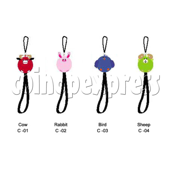 Q-Animal Mobile Strap (Short) 8332