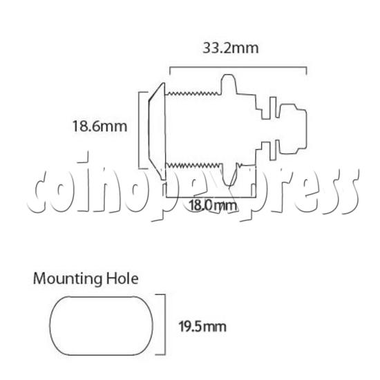 Circle Type Metal Door Lock with Key (18mm) 8456