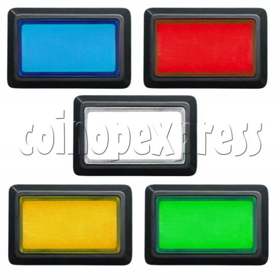 Rectangular Illuminated Push Button - Bevelled Edge 8810