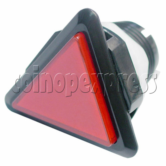 43mm Triangular Illuminated Push Button - Black Body 8821