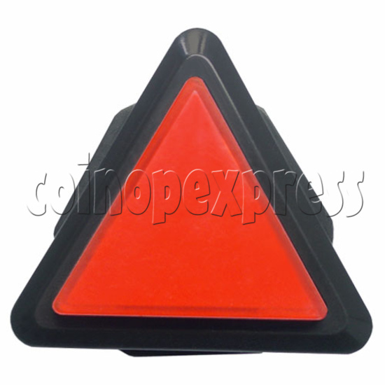 43mm Triangular Illuminated Push Button - Black Body 8822