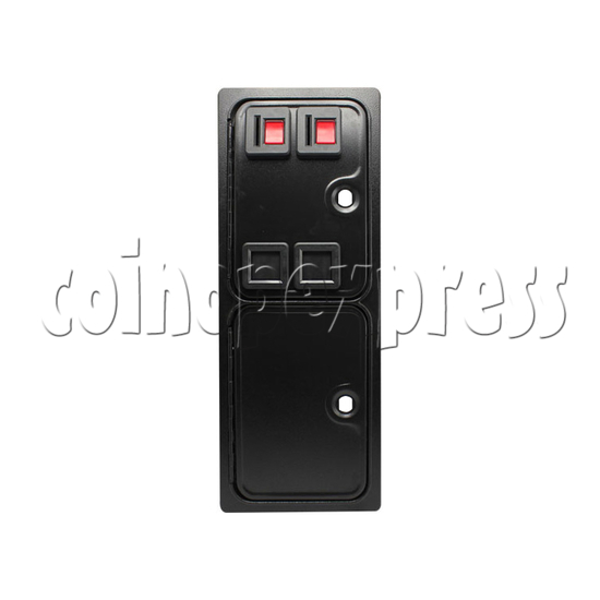 Double Insertion Coin Door - front view