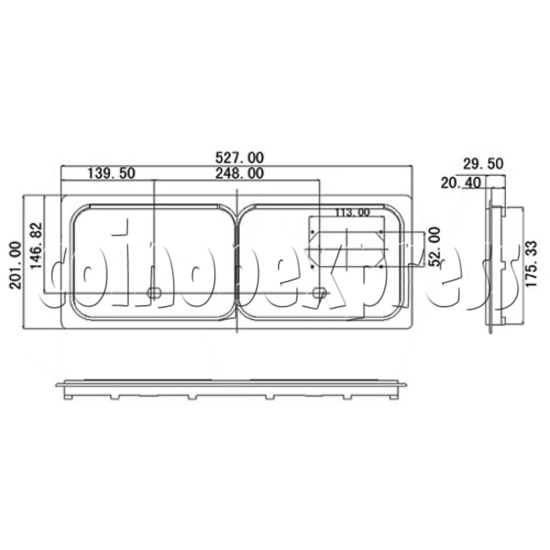 Coin Door for Horizontal Coin Mechanism 8905