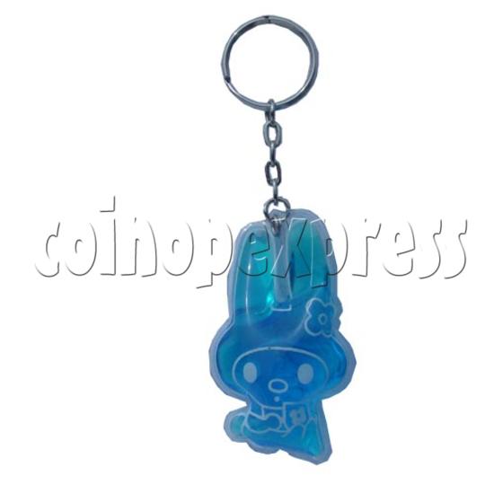 Water Glitter Key Rings 9691
