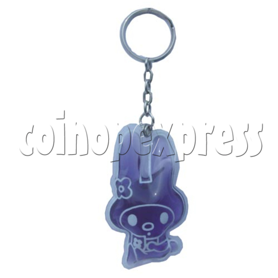 Water Glitter Key Rings 9693