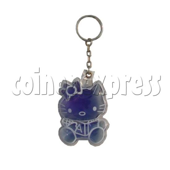 Water Glitter Key Rings 9698