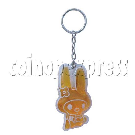 Water Glitter Key Rings 9701
