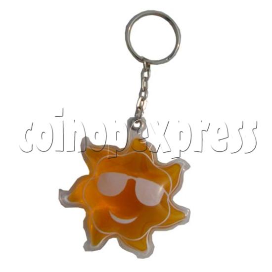 Water Glitter Key Rings 9702