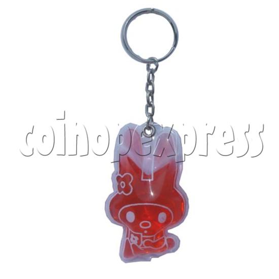 Water Glitter Key Rings 9708