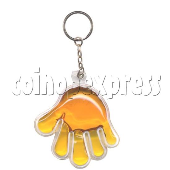 Water Glitter Key Rings 9773