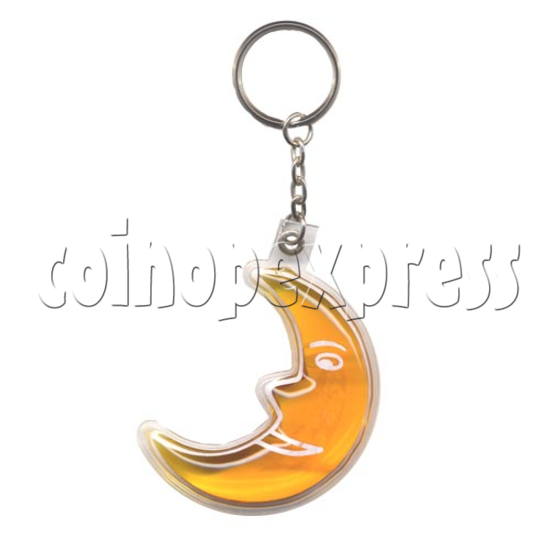 Water Glitter Key Rings 9784