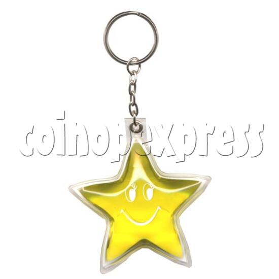 Water Glitter Key Rings 9785