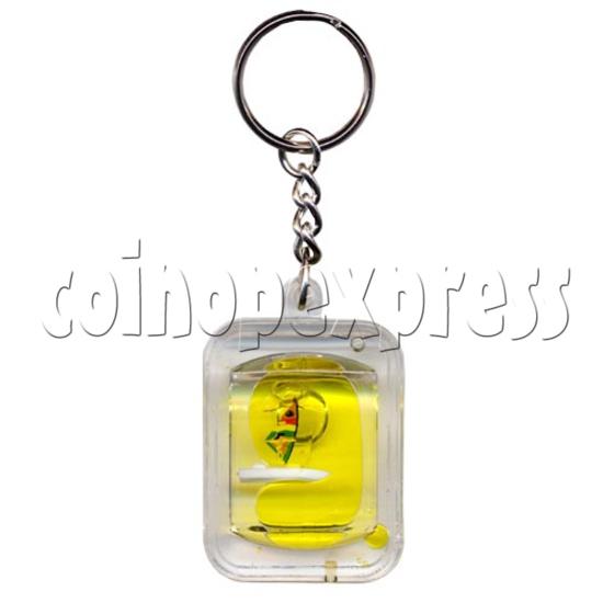 Colorful Liquid Key Rings 9837